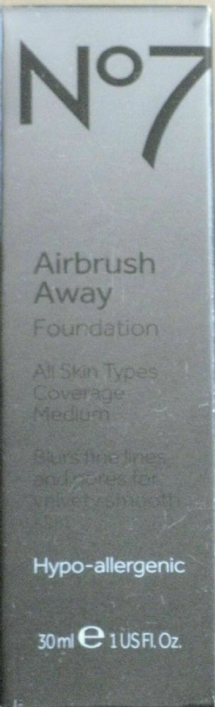 No7 AIRBRUSH AWAY FOUNDATION DEEPLY  30ml Warm beige